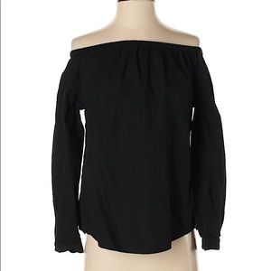 rag & bone black off the shoulder blouse